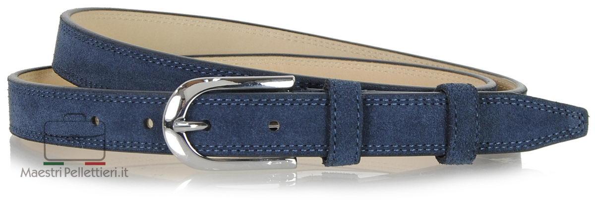 cintura donna camoscio blu