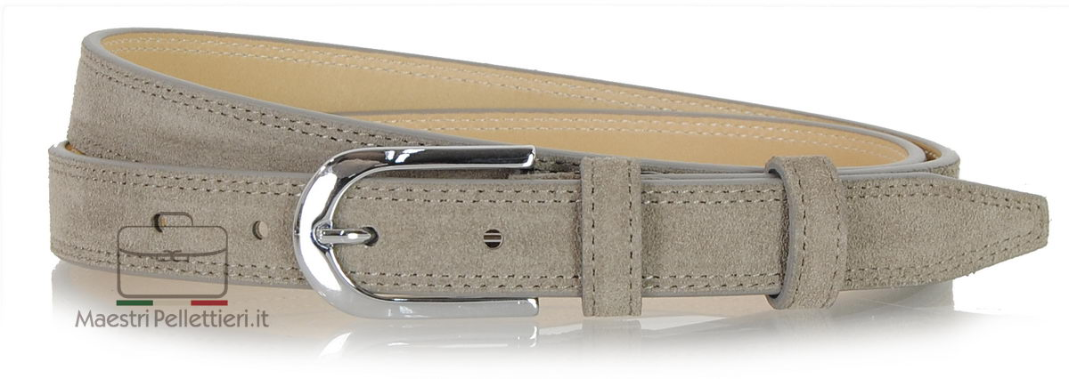 cintura donna camoscio Taupe grigio