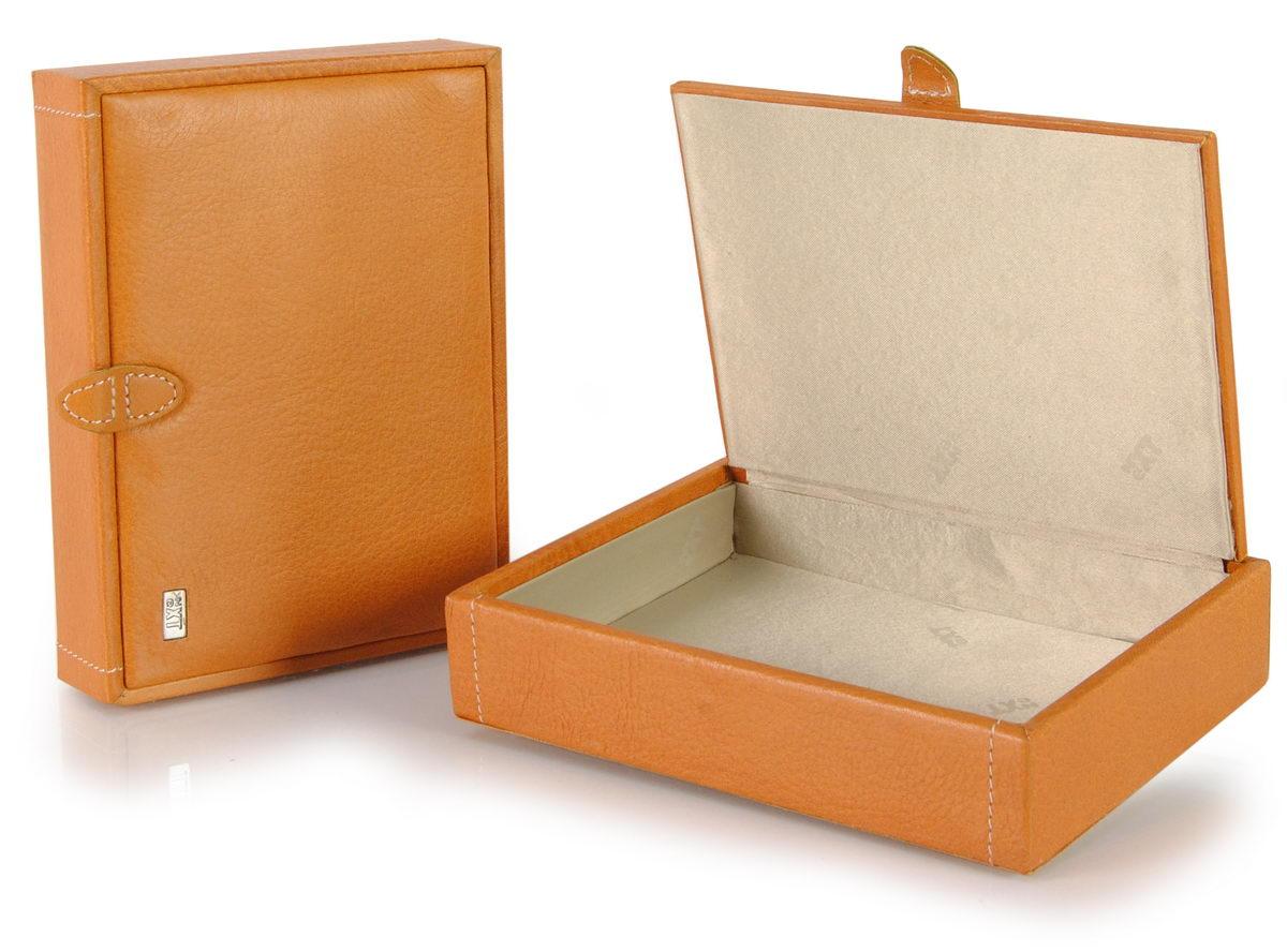 svuotatasche scatola in pelle