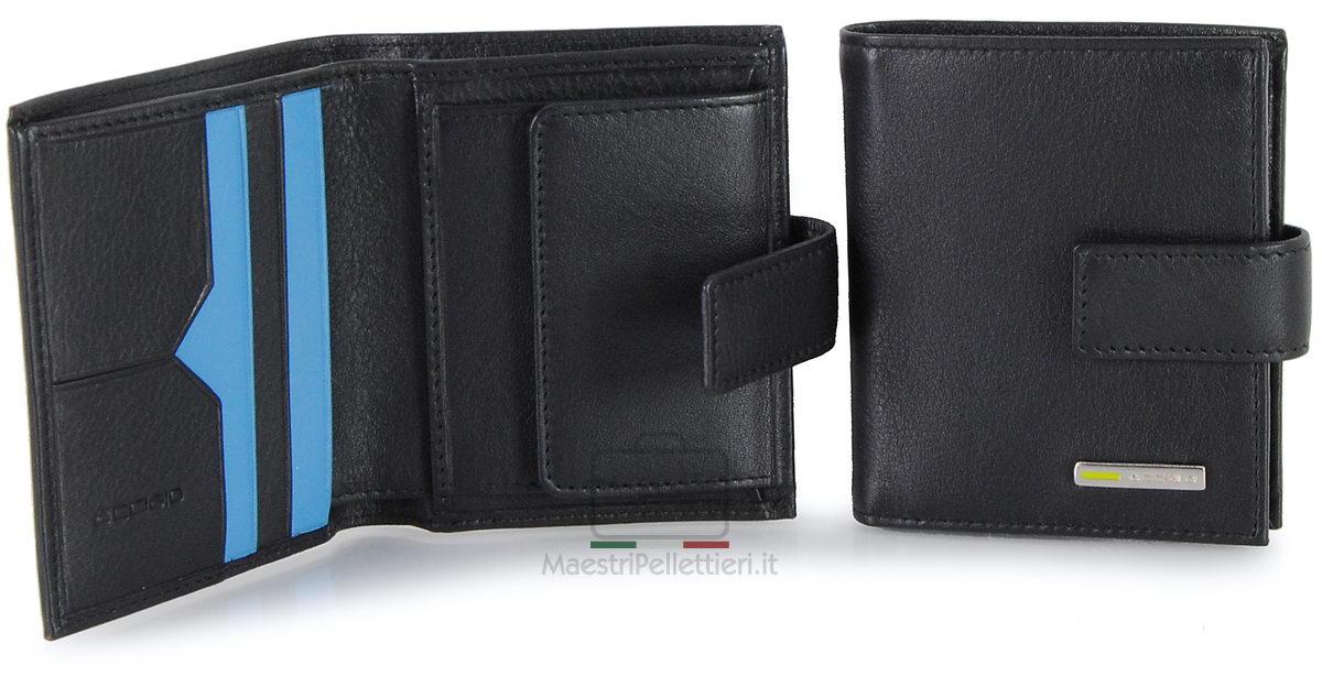 portafoglio piccolo con bottone