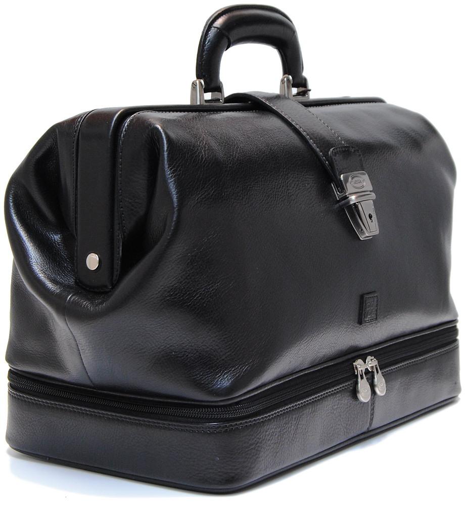 borsa medico pelle vacchetta nero | Adpel