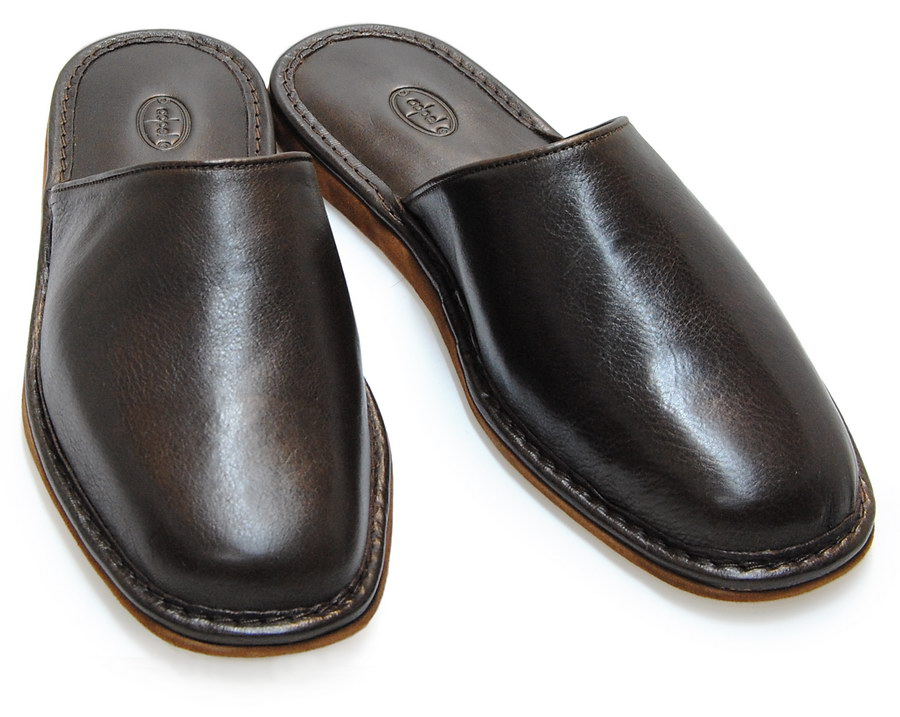 Pantofole da uomo in pelle - artigianali made in Italy - Adpel