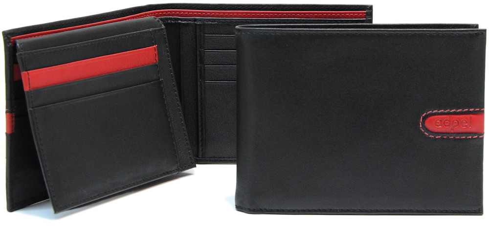 men's wallet with flap in very soft leather