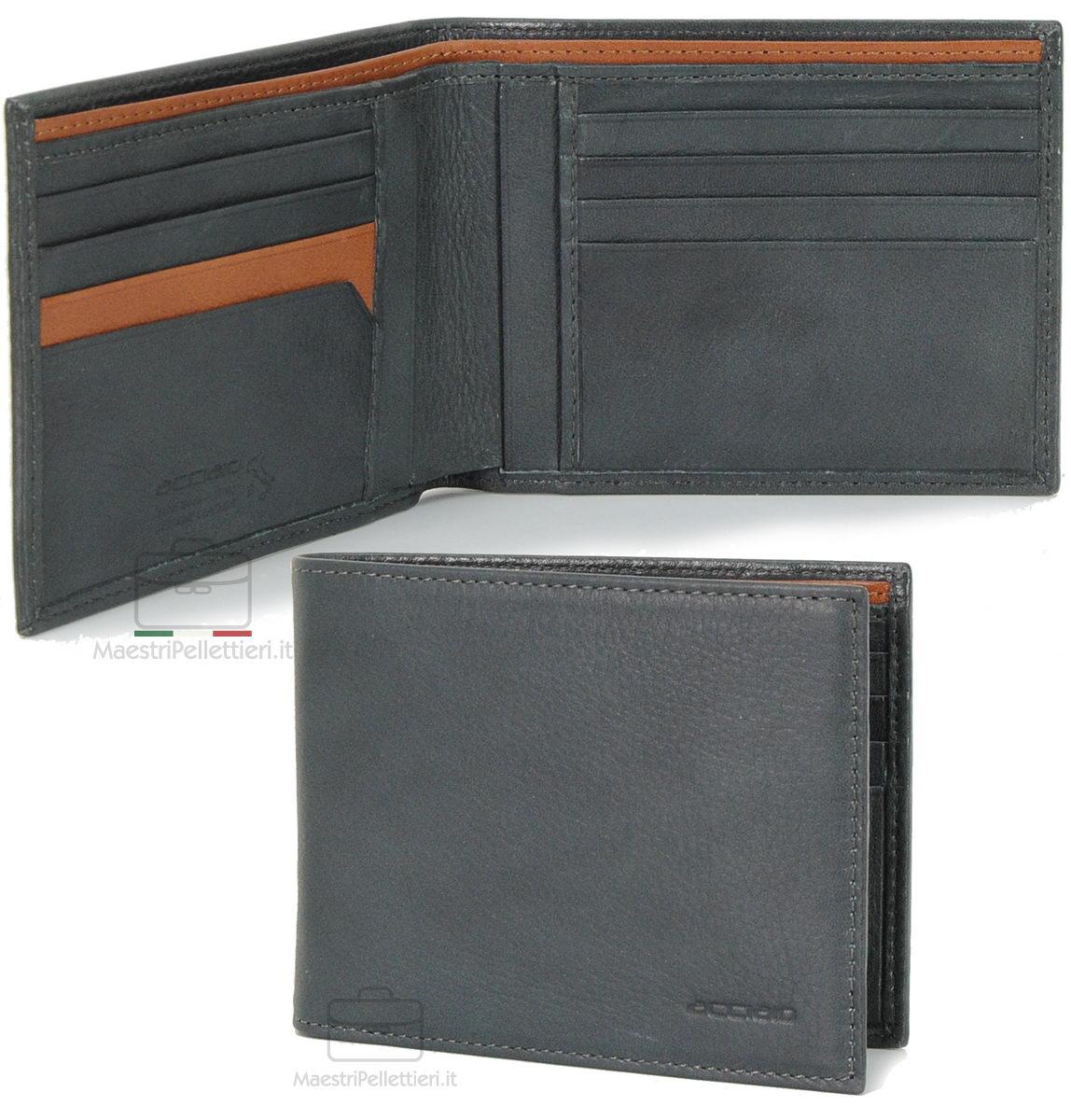 portafoglio uomo grigio | Acciaio