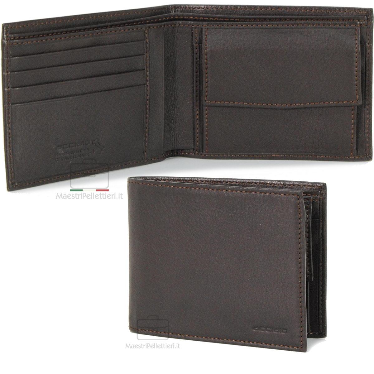 portafoglio uomo marrone | Acciaio