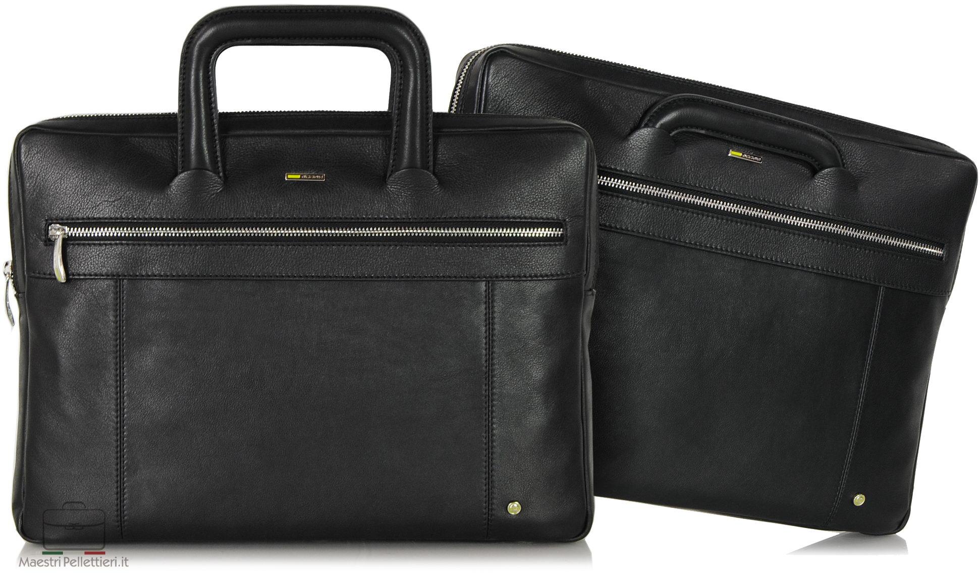 Portfolio briefcase with two handles