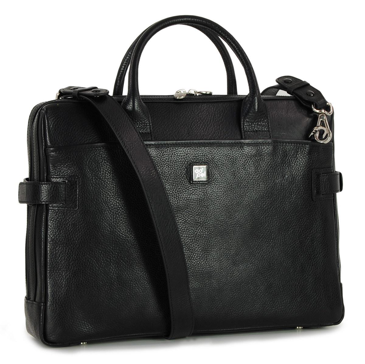 leather portfolio business bag