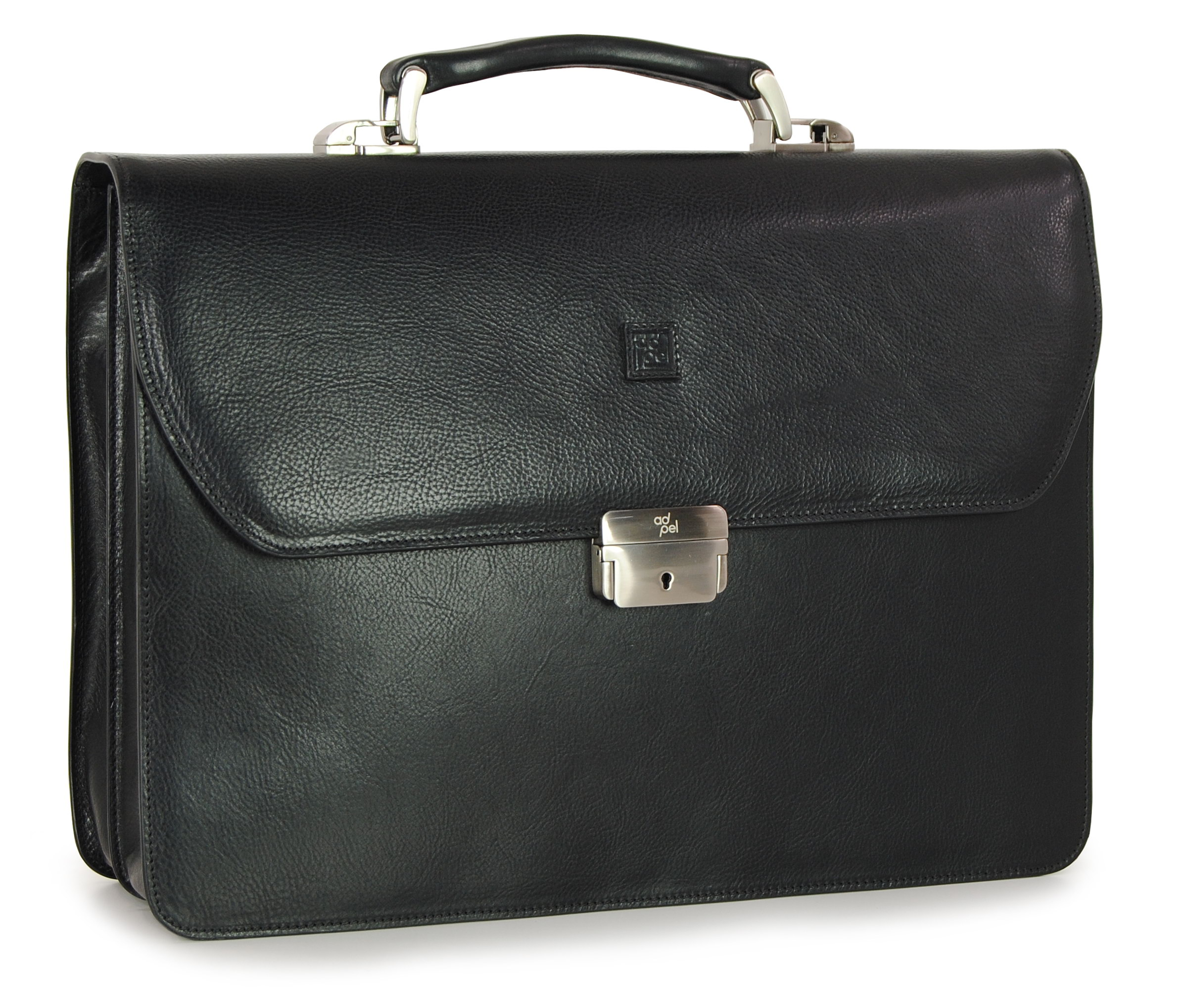 men's business bag in leather brown - made in Italy | Adpel