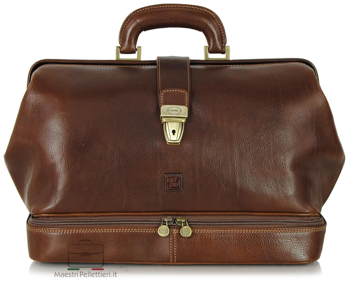 doctor's bag in leather made in italy