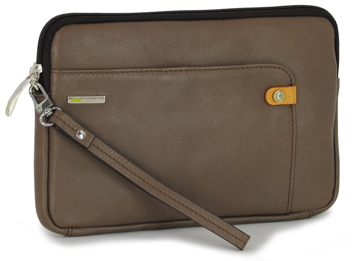 Man's Wrist bag leather clutch