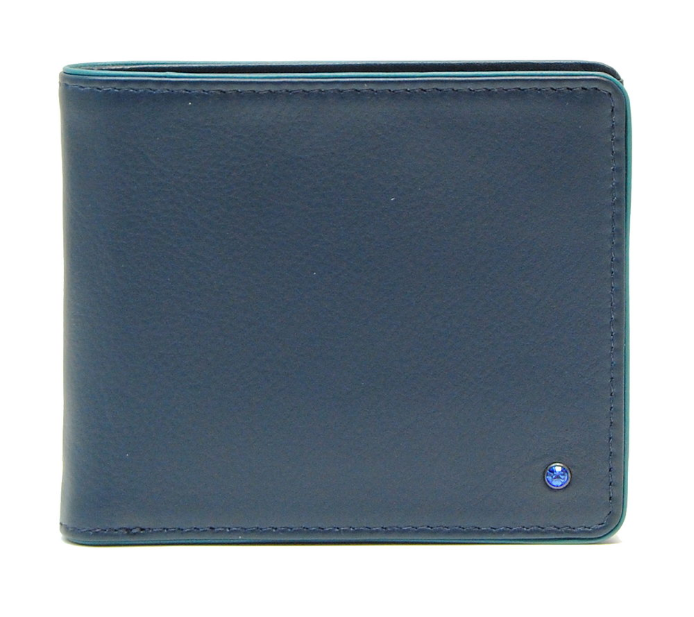 porta carte di credito in pelle elegante con swarovski