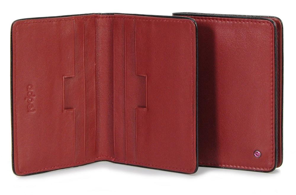 porta carte di credito in pelle elegante bordeaux