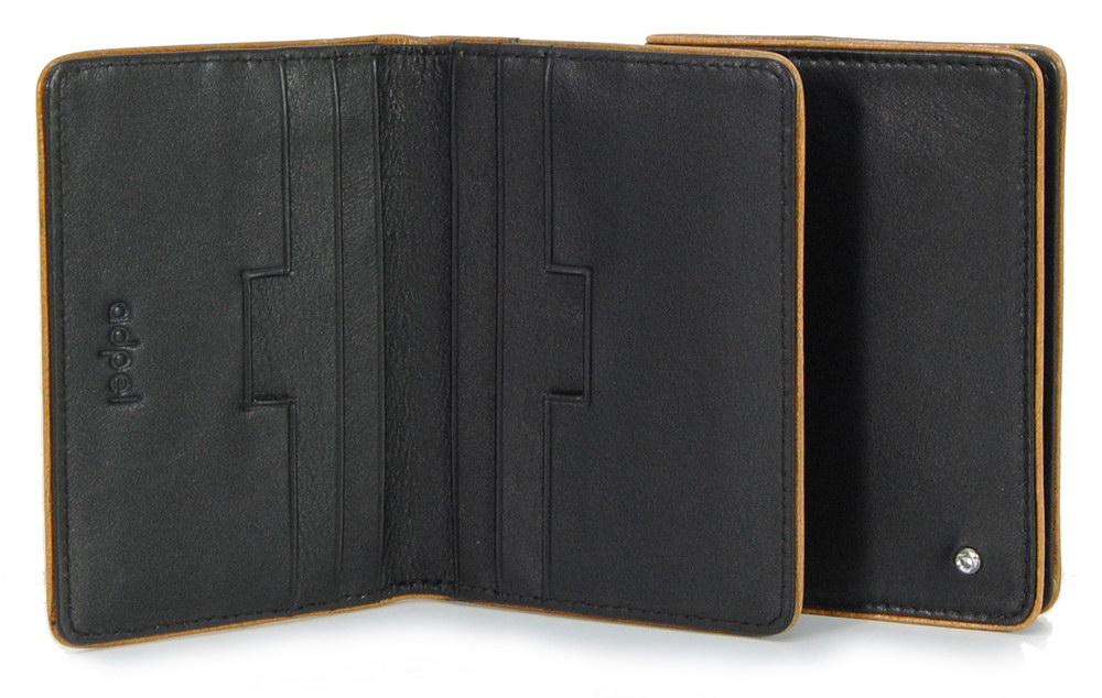 porta carte di credito in pelle elegante nero con swarovski