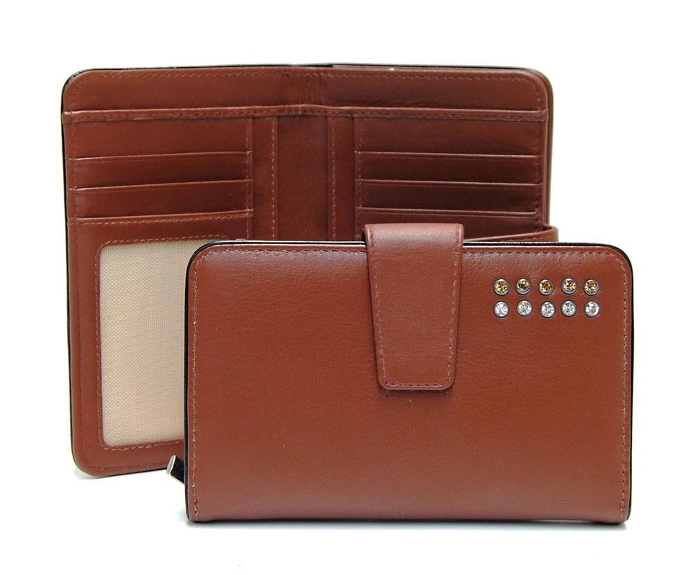 women's zip wallet with swarovski