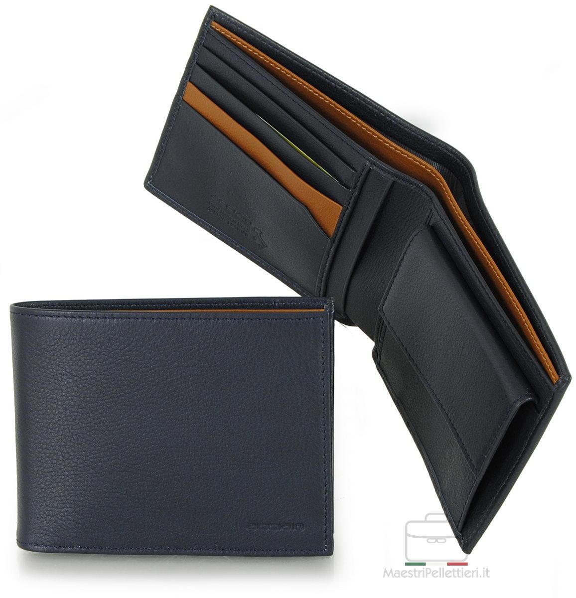 portafoglio da uomo blu portamonete