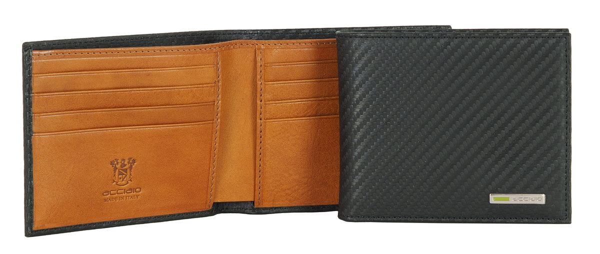 Men's wallet with coinpocket black | Acciaio
