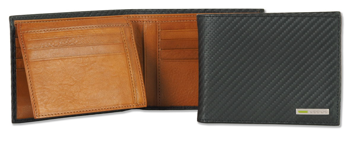 Men's wallet with coinpocket black | Acciaio