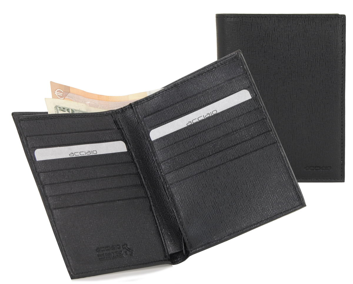 Vertical men's wallet long