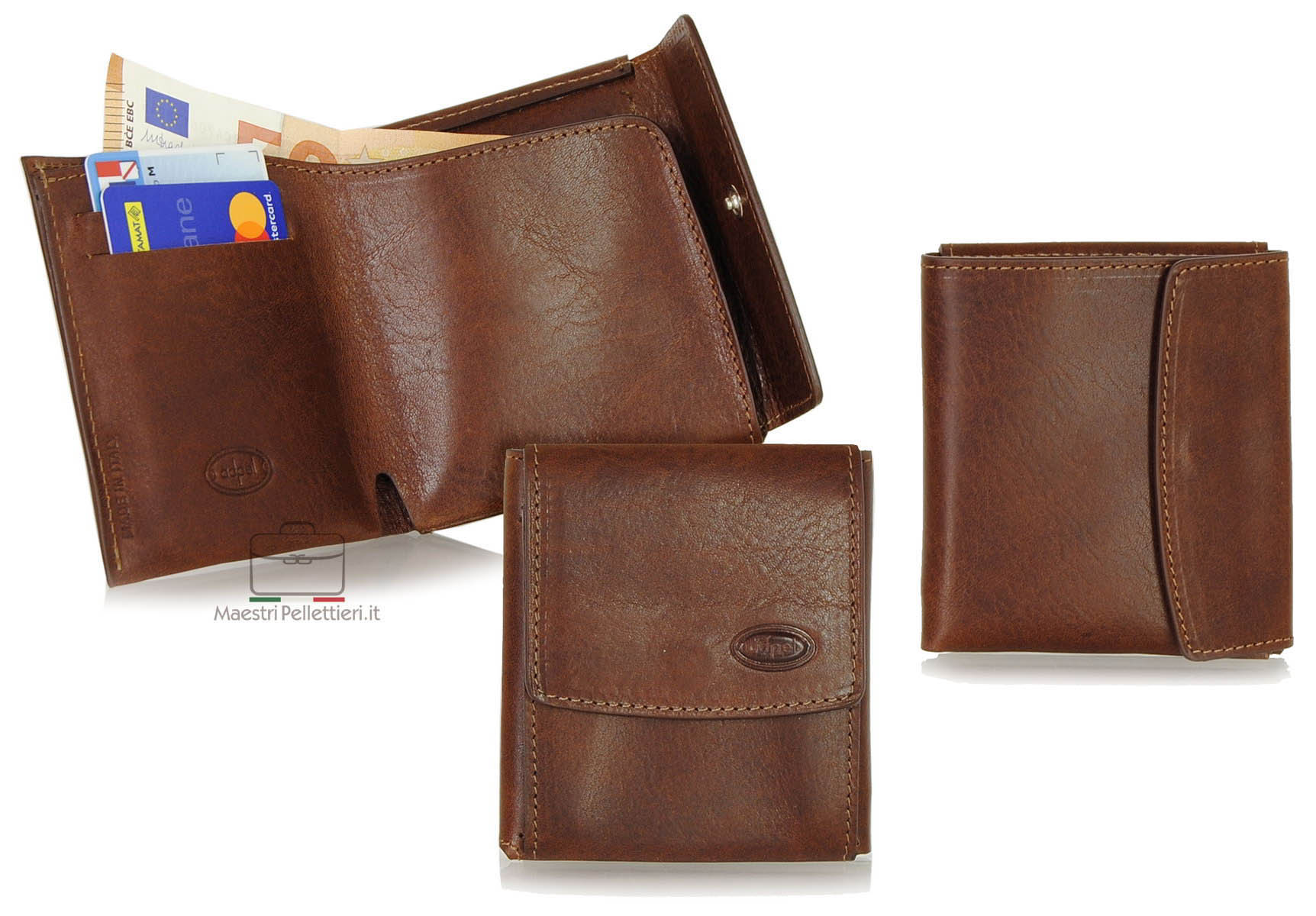 compact minimalistic leather wallet