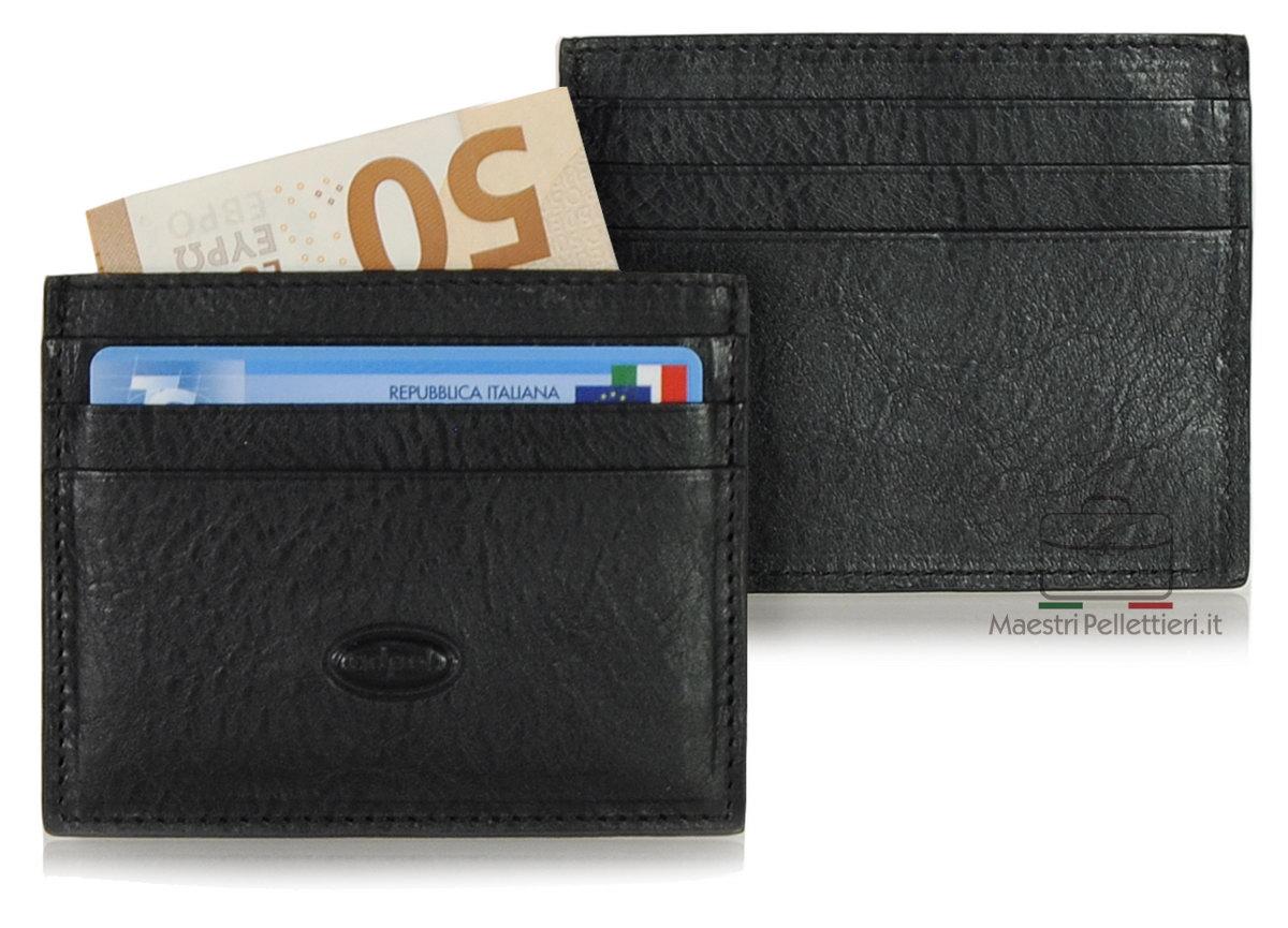 porta credit card pelle