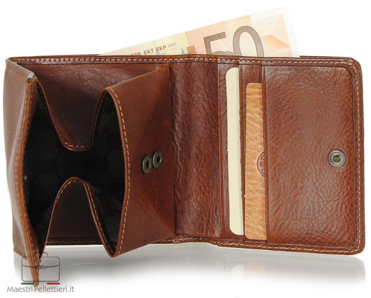 Small mini wallet leather